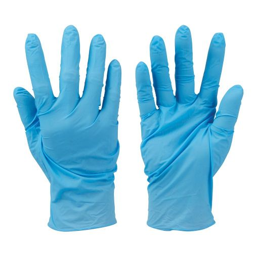 Silverline 279250 Disposable Nitrile Gloves Powder Free Blue 100 Pack Large